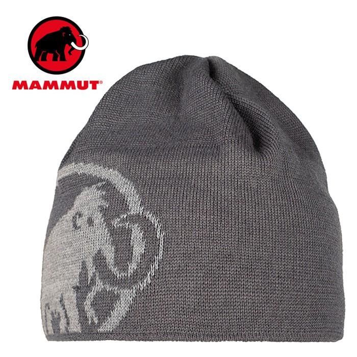 【Mammut 長毛象 瑞士】Tweak 保暖編織帽 針織帽 毛帽 賞雪帽 鈦金灰/花崗岩灰 (01352-00011)