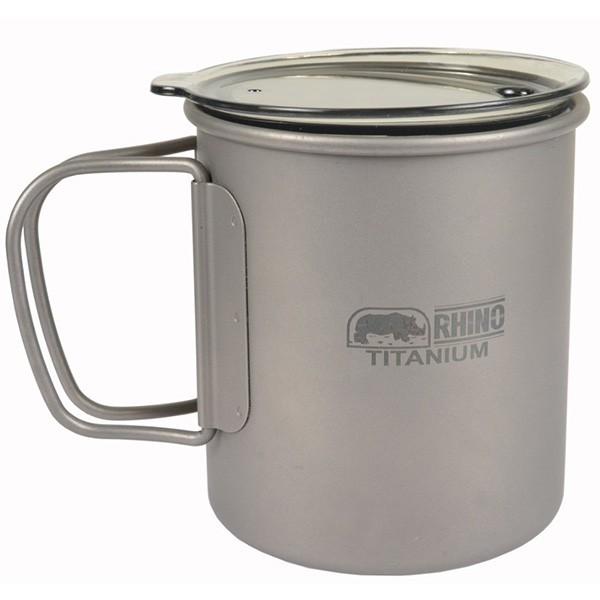 RHINO KT-83 超輕鈦合金斷熱杯300ml 折疊手把 鈦杯 露營 登山 保溫杯 湯杯 隔熱杯《台南悠活運動家》