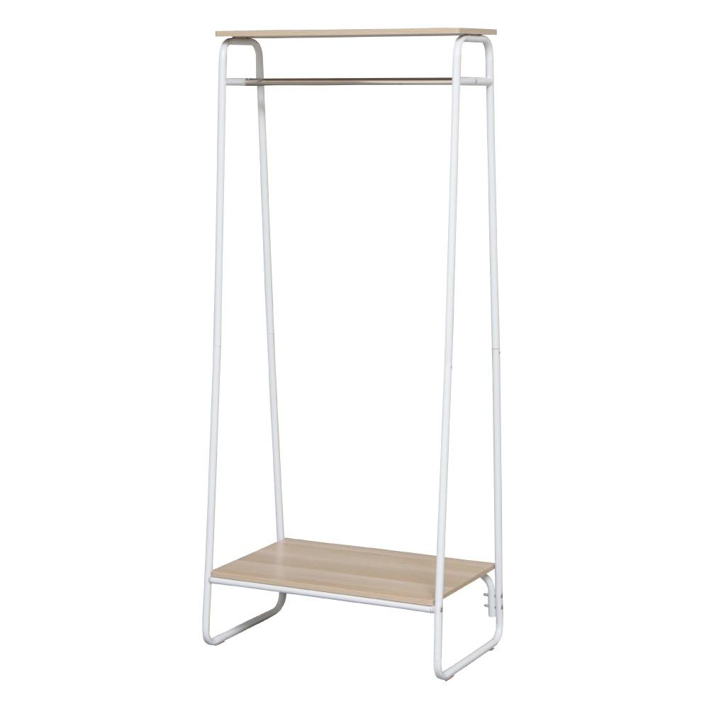 IRIS OHYAMA獨特木板加蓋風格吊掛衣架 PI-B2