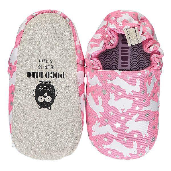 英國POCONIDO 手工鞋|嬰兒鞋|學步鞋-粉紅兔兔(6~24M)【麗兒采家】