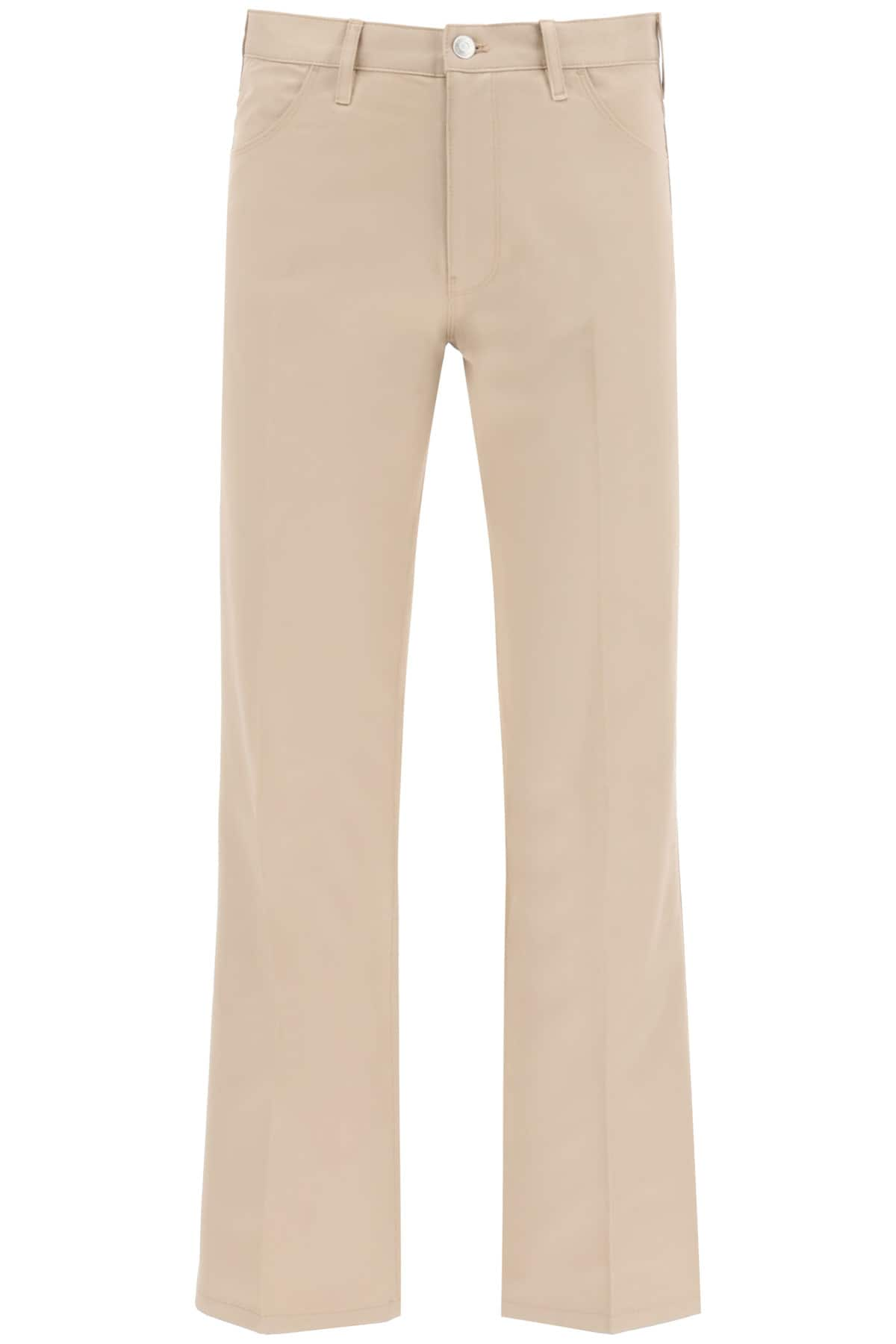 TOMMY HILFIGER COLLECTION TROUSERS WITH EMBROIDERED ARCHIVE EMBROIDERY 34 Beige Cotton