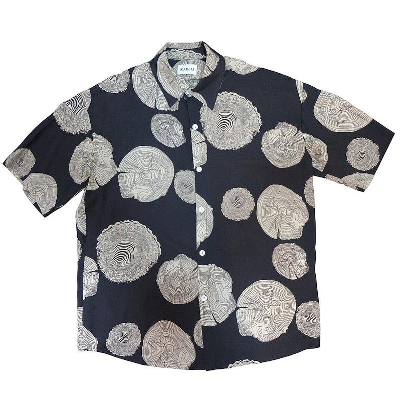 KAIKAI - Pattern Story - 木紋寬鬆襯衫