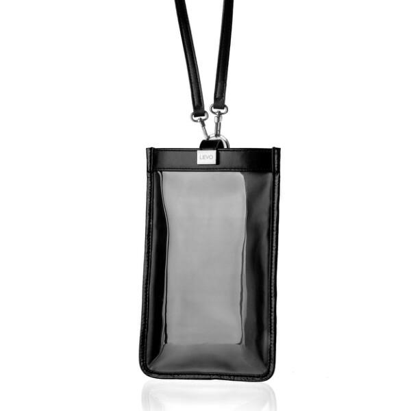 lievo touch - 真皮斜背手機護照包黑