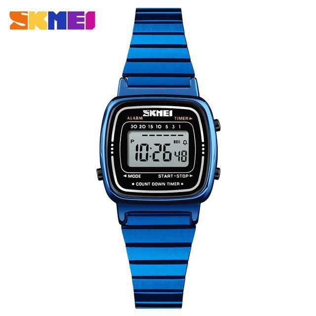時刻美 SKMEI 1252 長方形電子錶 時尚潮流防水小錶盤女士手錶 精品女士小巧腕錶 女士手錶 女錶