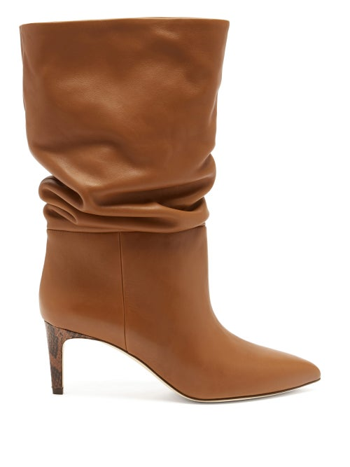 Paris Texas - Slouchy Leather Boots - Womens - Tan