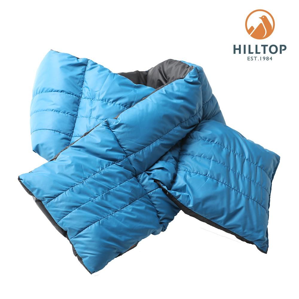 【hilltop山頂鳥】90/10保暖羽絨圍巾F44X01藍