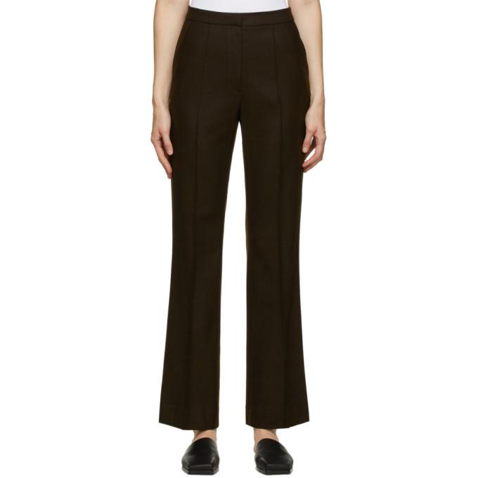 LVIR 棕色羊毛长裤