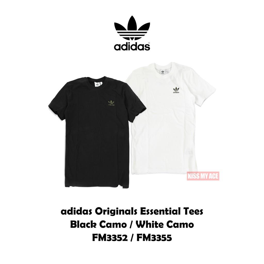 Adidas Originals Tee FM3352 FM3355 黑白素T 迷彩小Logo 厚 廠商直送 現貨