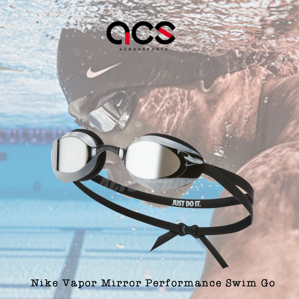 NIKE 泳鏡 Vapor Mirror Performance Swim Go 黑 男女款 蛙鏡 成人款【ACS】