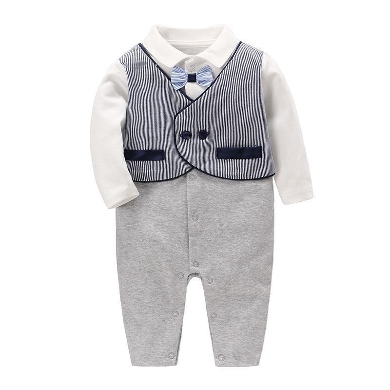 Vlinder童装男寶寶周岁礼服純棉绅士連身衣