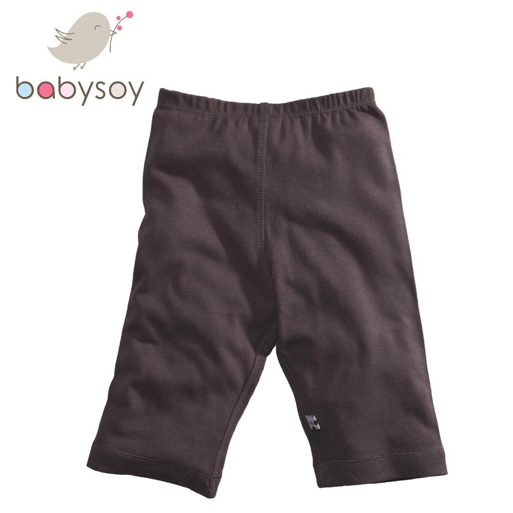 美國[Babysoy] Janey Baby有機棉百搭彈性長褲626-咖啡 秋冬寶寶長褲 好萊塢女星推薦