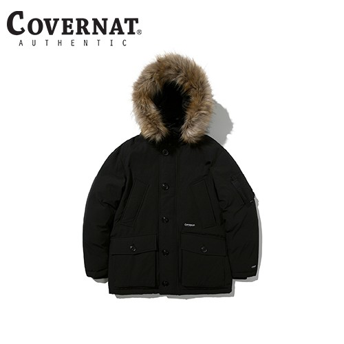 [COVERNAT] 20FW RDS WOLVERINE HALF DOWN JUMPER BLACK