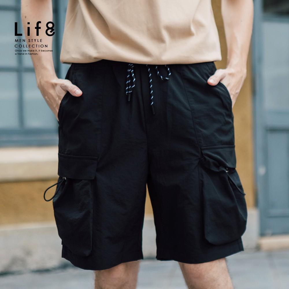 LIFE8-Casual 輕量舒適 抽繩雙口袋短褲-02575 廠商直送