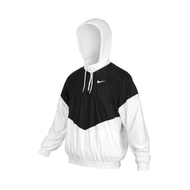 [Nike] 男生連帽風衣外套 熱賣款 黑白配色 BV0980010《曼哈頓運動休閒館》
