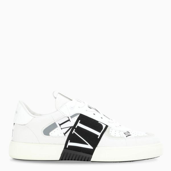 Valentino Garavani White VL7N logo banded sneakers