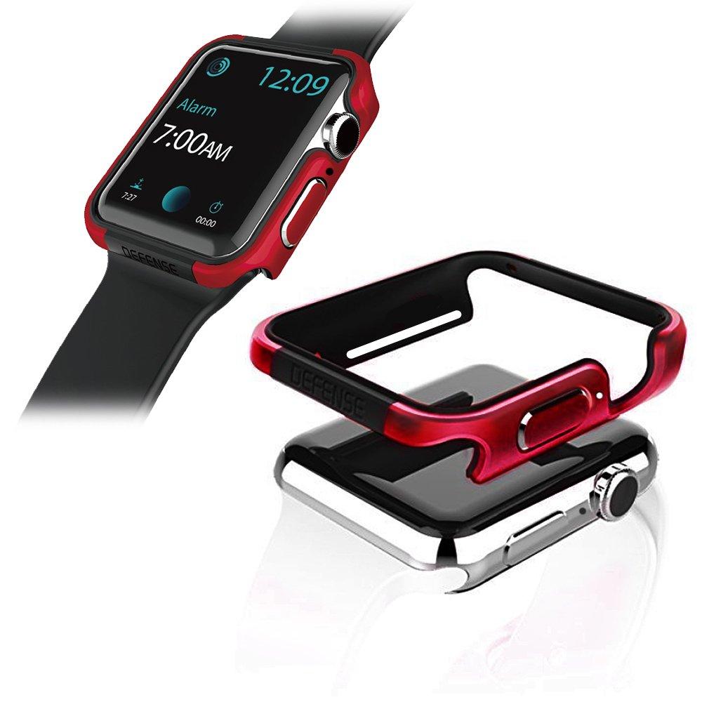 刀鋒Edge系列 Apple Watch 4 (40mm) 鋁合金雙料保護殼 保護邊框(野性紅)