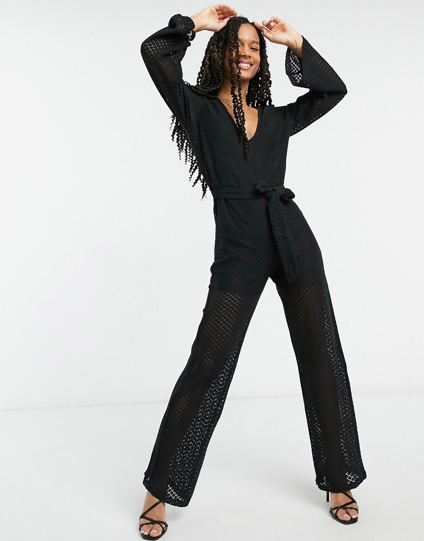 Elvi high neck jumpsuit in black