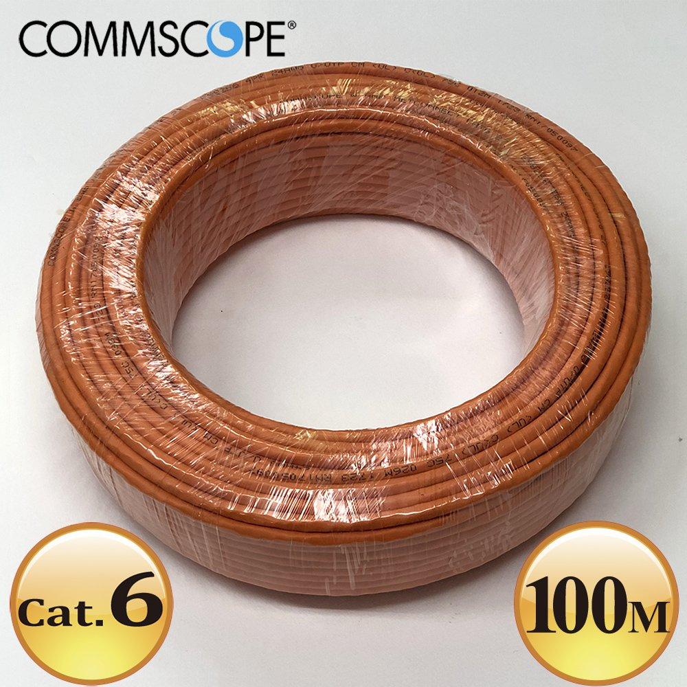 Commscope - AMP六類(Cat.6)100米無遮蔽網路線(橘色)