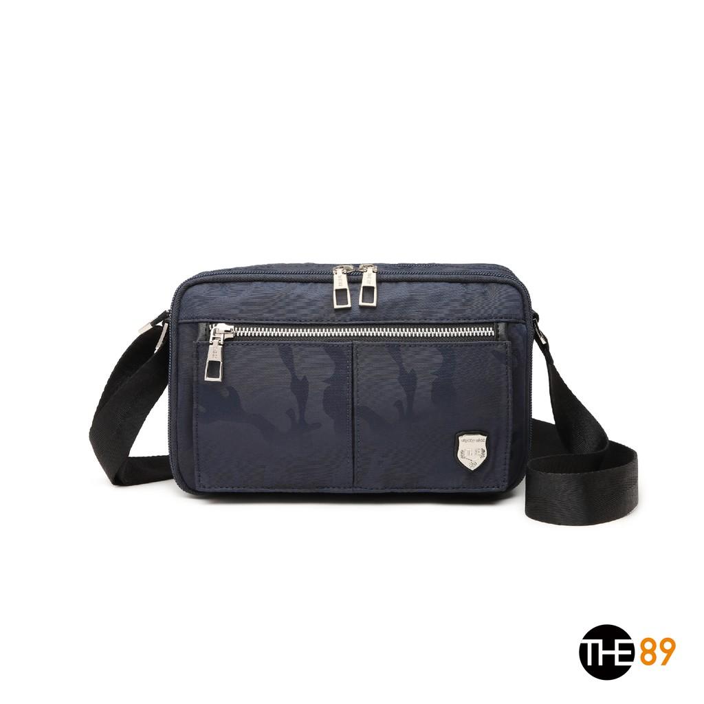 【THE89】酷黑迷彩906-1401 斜背包 (深藍色)