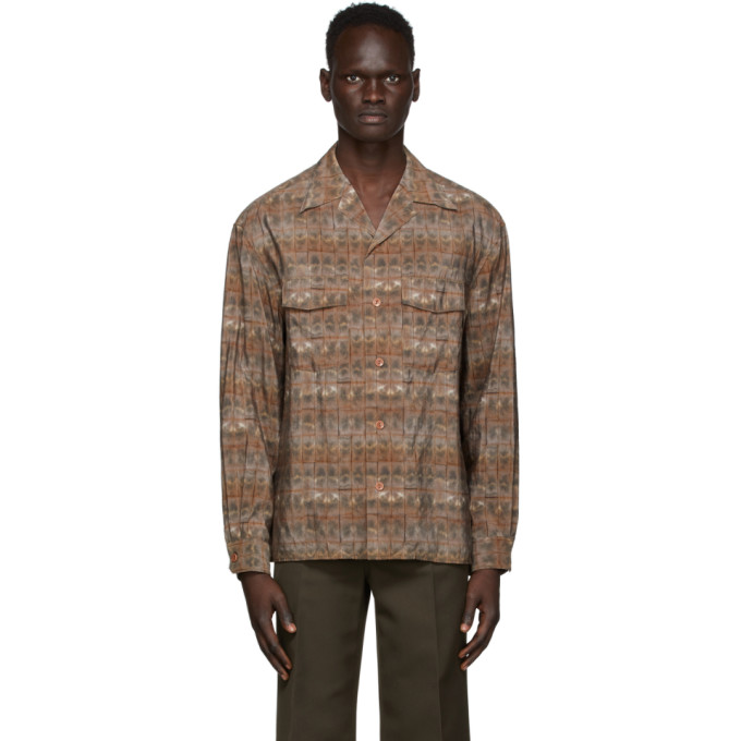 Lemaire 棕色 Convertible Collar 衬衫