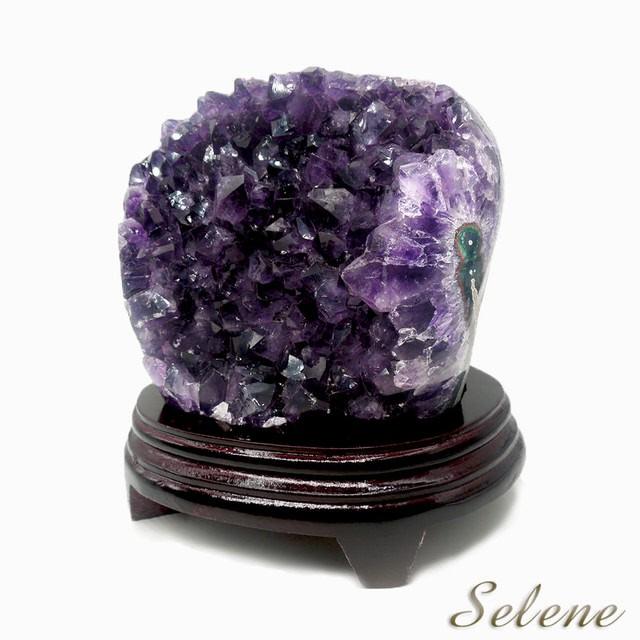 【Selene珠寶】特級異象烏拉圭紫晶鎮(含座2kg以上)