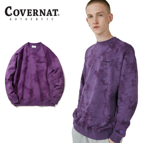 [COVERNAT] SMALL AUTHENTIC LOGO 長袖圓領衛衣 (TIE-DYING)