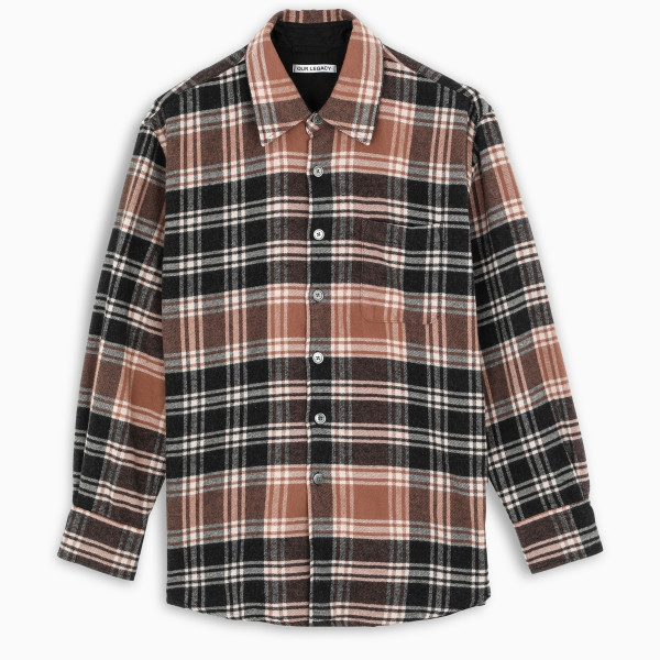 OUR LEGACY Brown plaid above shirt