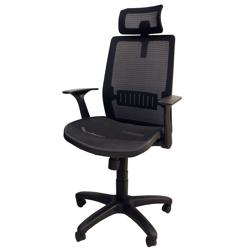 高背人體工學電腦椅 高腰彈力全網 舒適護枕