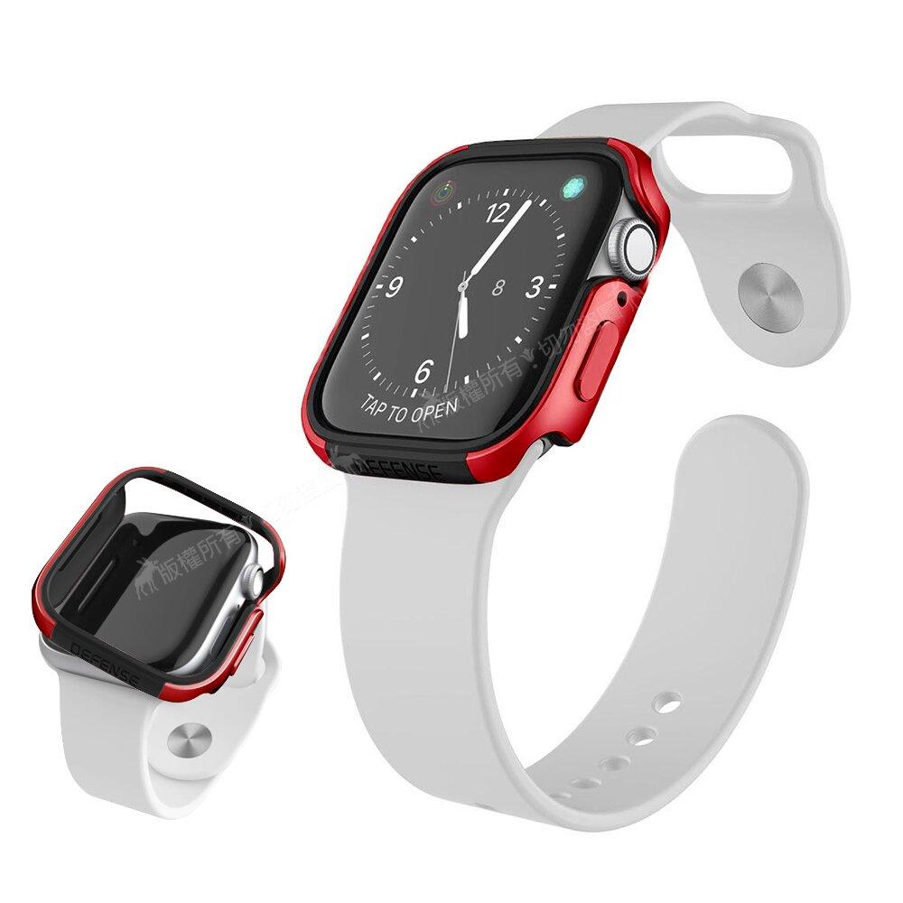 刀鋒Edge系列 Apple Watch Series 6/SE (40mm) 鋁合金雙料保護殼 保護邊框(野性紅)