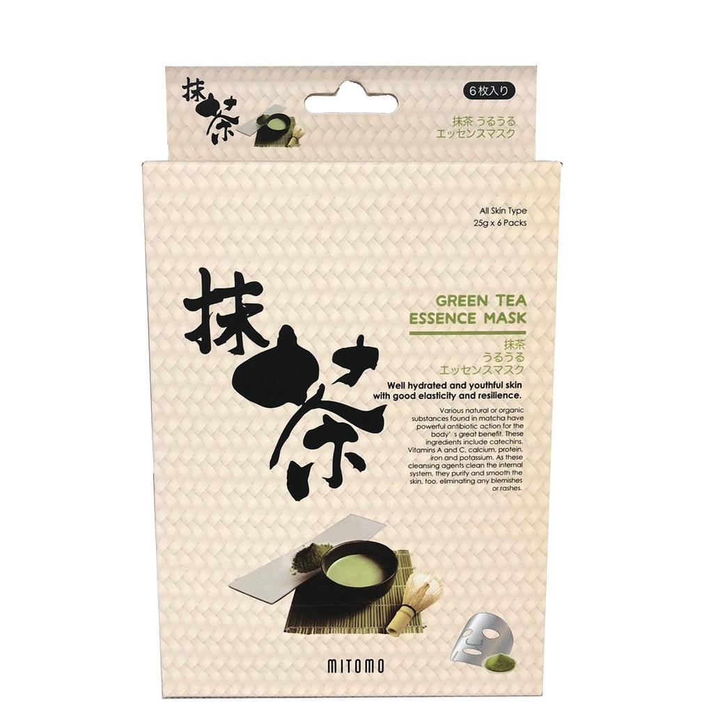 【MITOMO】美友潤潤精華面膜-綠茶 6入/盒