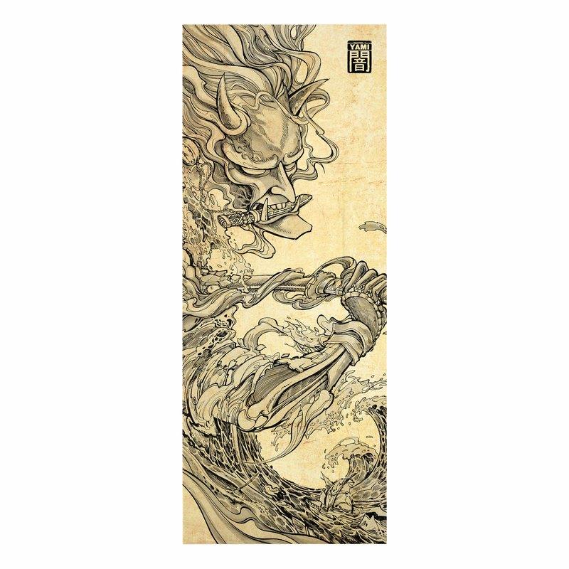 日式面料,帆布面料,印花哈尼亞花紋,無框