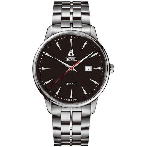 ERNEST BOREL瑞士依波路錶 雅麗系列 黑面鋼帶 (GS5650H-53121) 41mm