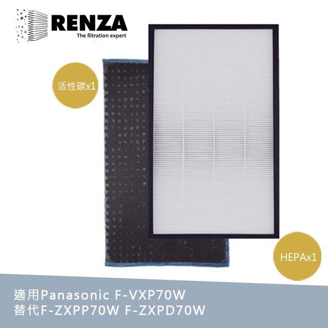 RENZA濾網 適用Panasonic國際牌 F-VXP70W F-VXL70 F-VXM70 HEPA活性碳 濾芯