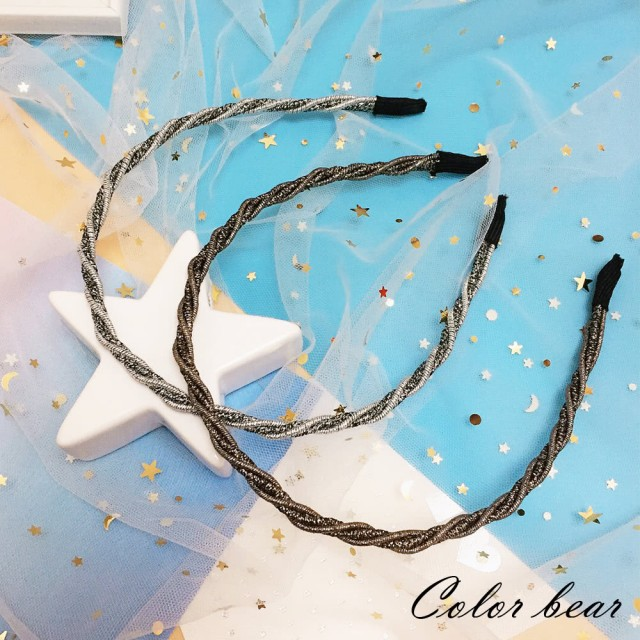 【卡樂熊】簡約璀璨星光造型髮箍(兩色)