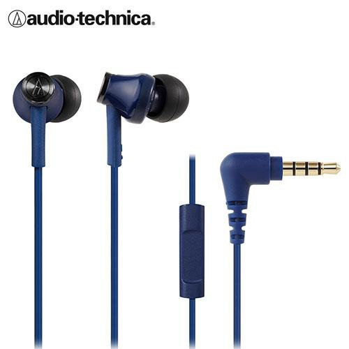 鐵三角智慧型手機用耳塞式耳機ATH-CK350iS - 藍【愛買】