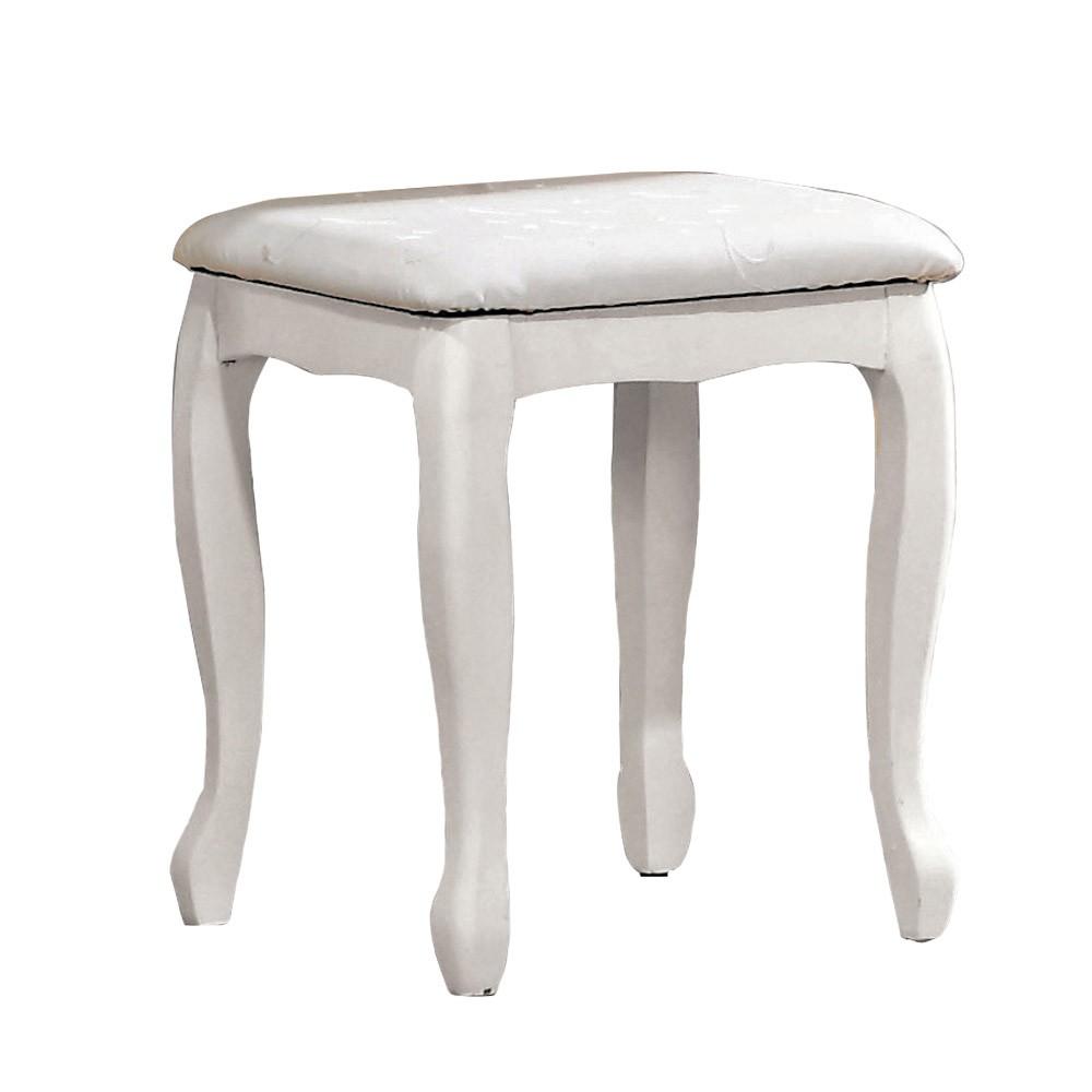 Boden-簡約法式白色化妝椅/小椅子/單椅/椅凳