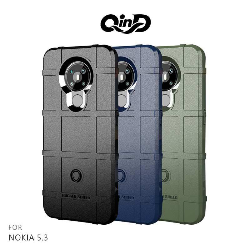 QinD NOKIA 5.3 戰術護盾保護套 鏡頭加高 保護套 手機殼