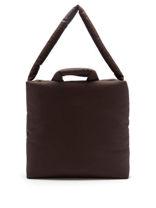 Kassl Editions - Rubber Medium Padded Tote Bag - Mens - Dark Brown