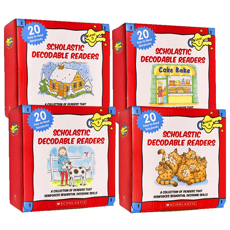 Scholastic Decodable Readers (黑白版) 英文讀本 (w/ CD)【歌德書店】