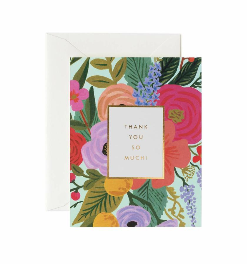 RIFLE PAPER Thank You Card/ Garden Party Thank eslite誠品