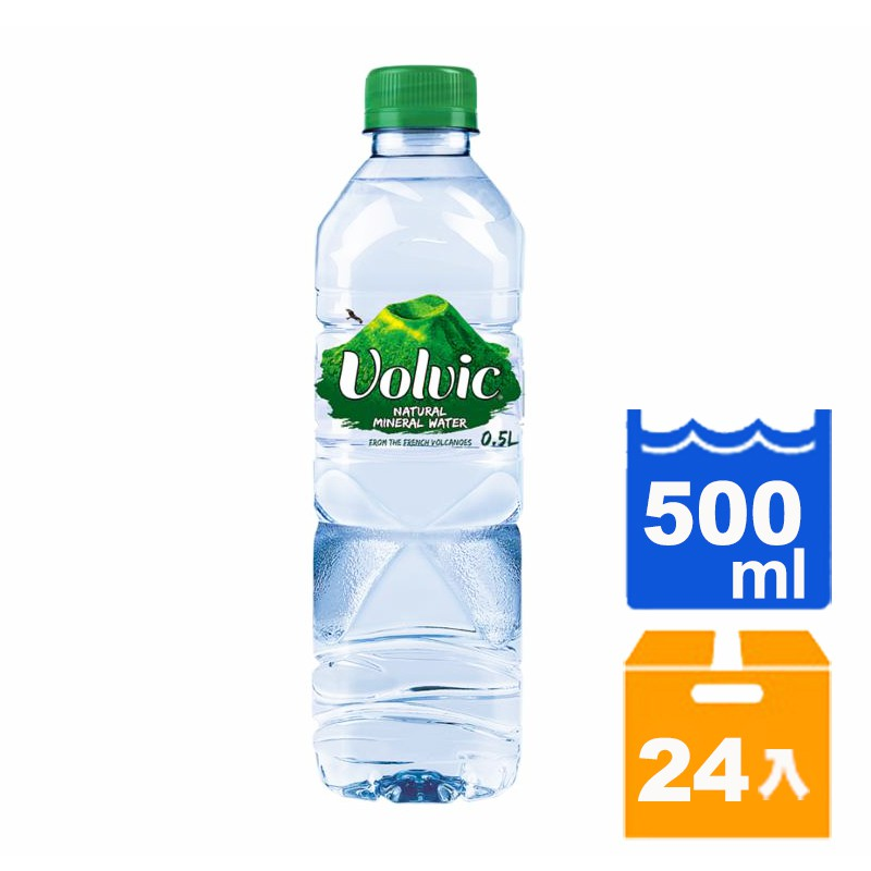 法國 富維克Volvic 天然礦泉水 500ml (24入)/箱【康鄰超市】