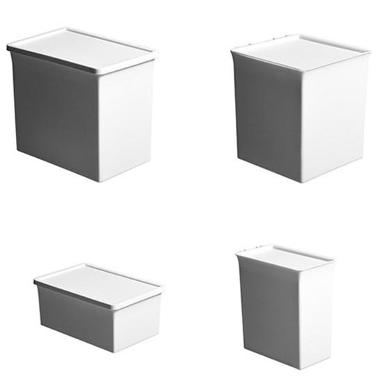 日風純白防塵收納盒 無印風 化妝品 雜物分類 桌面收納 【RC4145】《Jami》