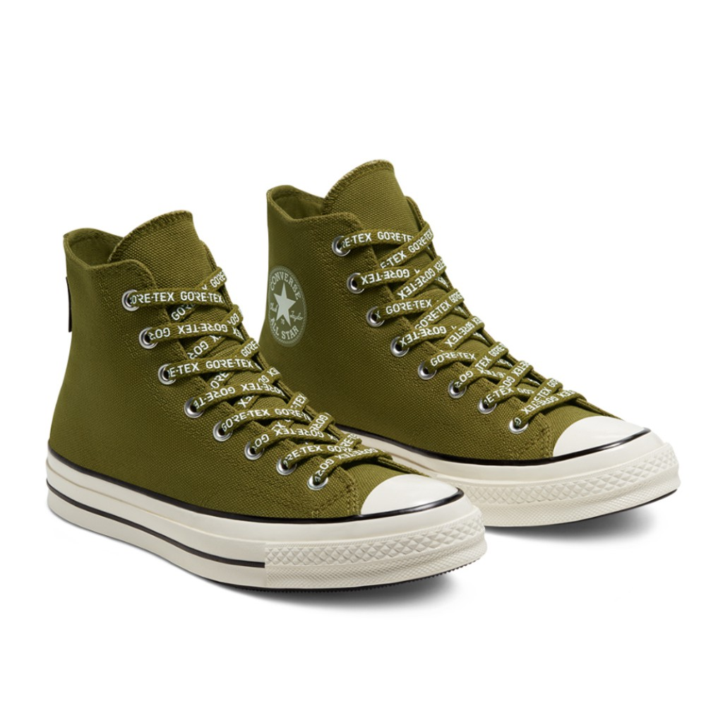 CONVERSE-GORE-TEX chuck-70-Hi 男女高筒休閒鞋-168859C-綠色防水 三星標