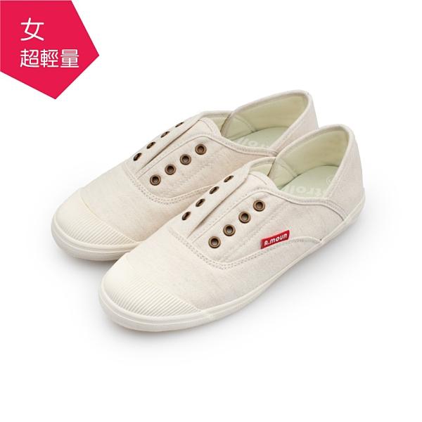 【A.MOUR 經典手工鞋】輕履後踩系列- 豆漿米 / 平底鞋 / 柔軟布料 / DH-6771