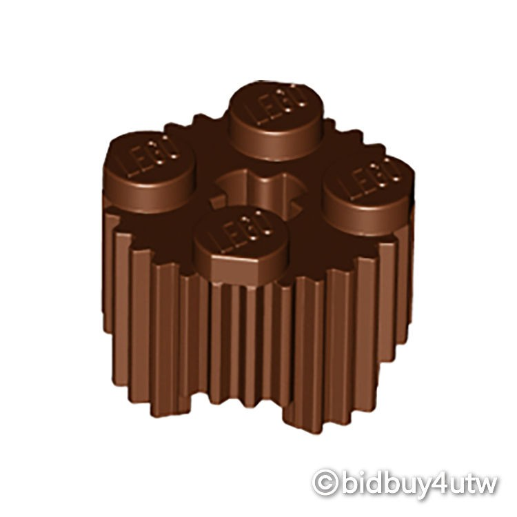 LEGO零件 圓形磚 2x2 92947 紅棕色 6036503【必買站】樂高零件
