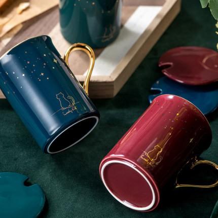 【潛水小妹】聖誕節 交換禮物 北歐 貓咪 星星 星辰 馬克杯 辦公室 水杯 茶杯 牛奶杯