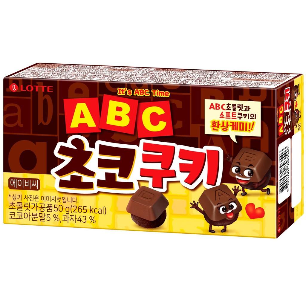 韓國Lotte樂天 字母巧克力餅乾 50g 【美日多多】