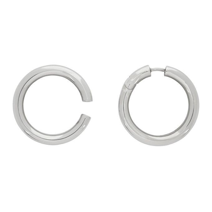 Alan Crocetti 银色 Loophole 耳骨夹
