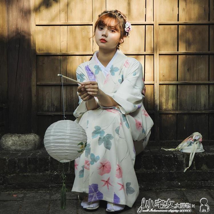 和服 新款 月下和服 優雅氣質少女和服浴衣日本正裝和服女日式改良和服