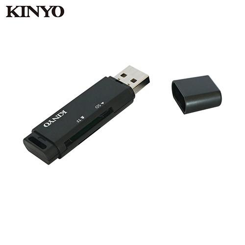 KINYO 迷你雙槽讀卡機KCR-118B【愛買】